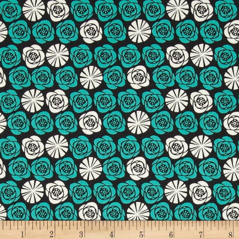 Birds of A Feather Roses Graphite from @fabricdotcom  Designed by Allison Cole for Camelot Fabrics, this cotton print is perfect for quilting, apparel and home decor accents.  Colors include dark graphite grey, white and aqua.