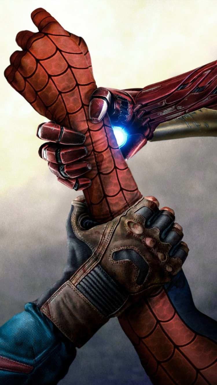 Avengers Civil War IronMan Spiderman Captain America Wallpaper