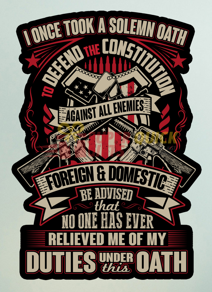 The Oath Sticker