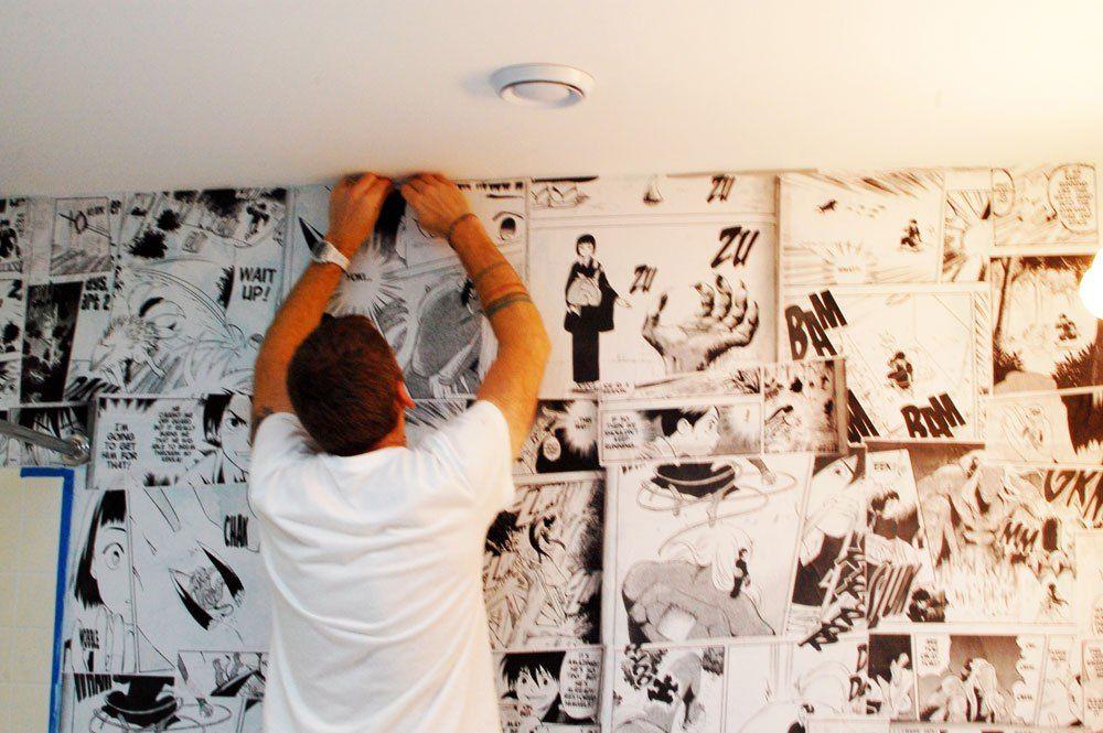 How To Make Your Own Anime Mural Wall Wise Craft Handmade Anime Decor Otaku Room Wall Murals
