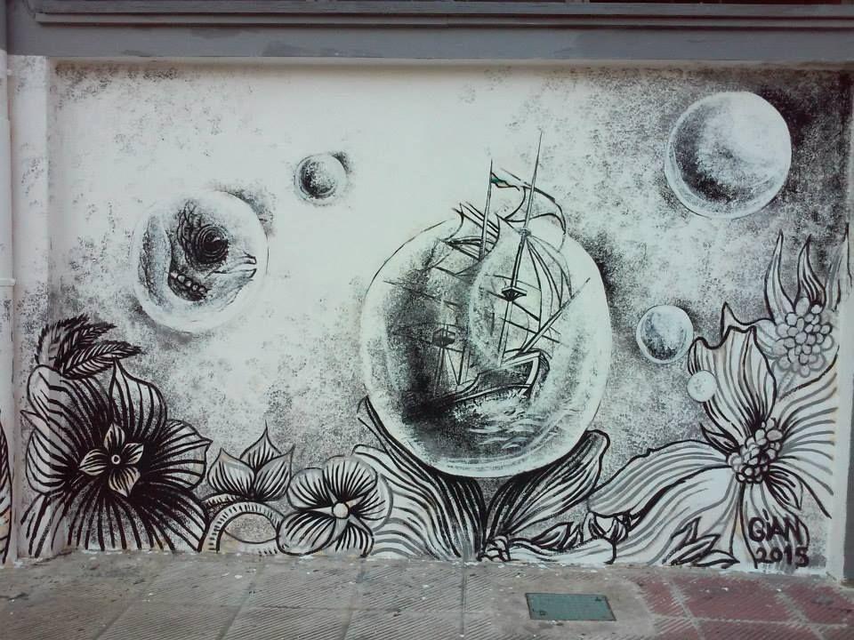 School mural detail
