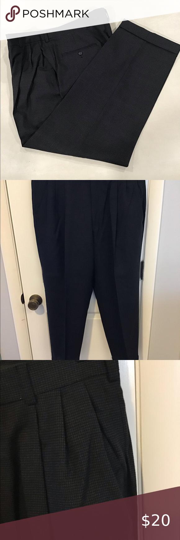 Austin Reed Mens Dress Pants 36 29 Black Check Austin Reed Mens Dress Pants 36 29 Straight Leg Cuffs Two Fro In 2020 Mens Dress Pants Dress Pants Clothes Design