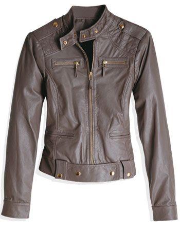 6710d07f6 116-jaqueta-de-couro-acinturada | Eu gosto (2) | Jackets, Fashion e ...