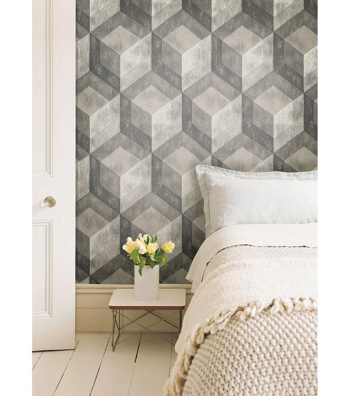 WallPops® NuWallpaper™ Bauhaus Weathered Wood Peel and Stick Wallpapernull