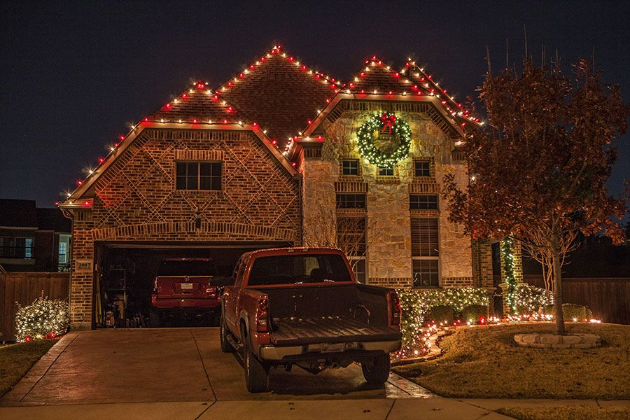 red white christmas lights dallas white christmas lights landscape lighting