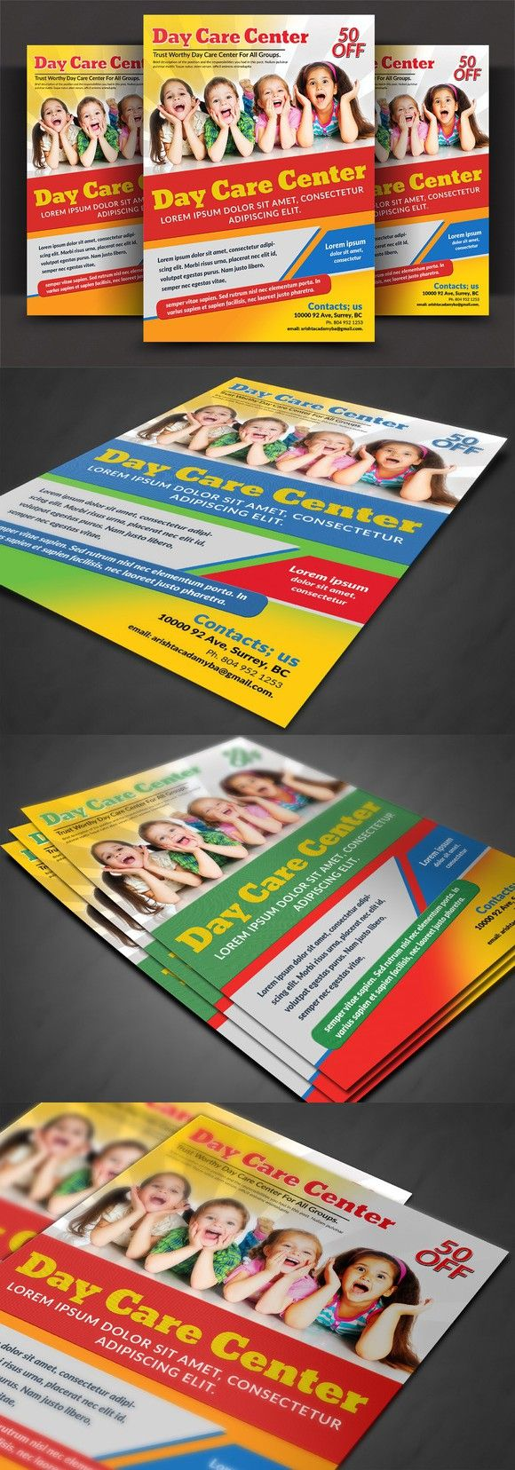 Daycare Flyer Templates  Flyer Template Template And Adobe