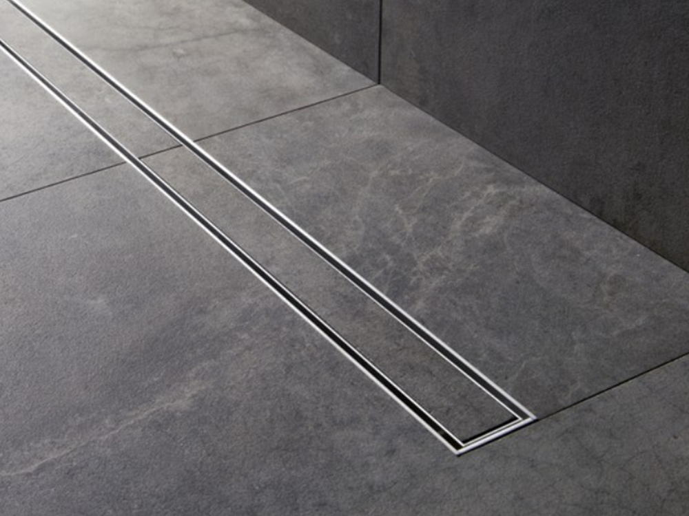 Luxe 60 in. Stainless Steel Linear Shower Drain - Tile ...