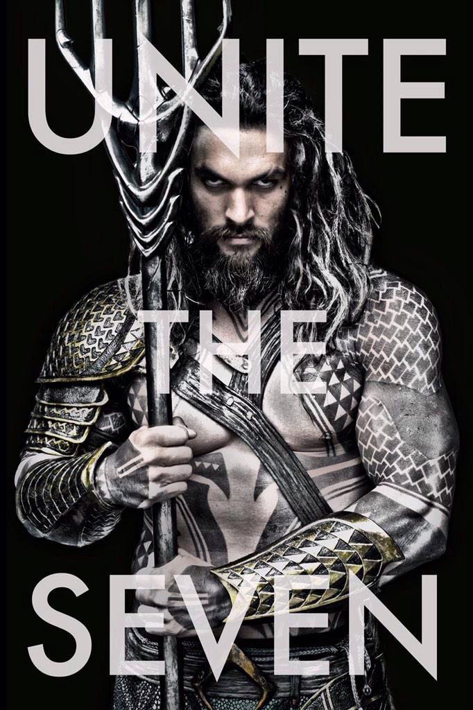 """Batman v Superman: Dawn of Justice Aquaman poster """"Unite the Seven"""""""