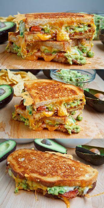 Bacon Guacamole Grilled Cheese Sandwich #eggmeals