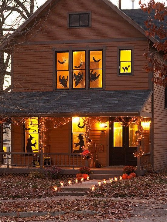 DIY scary Halloween decoration ideas - spooky silhouettes for your