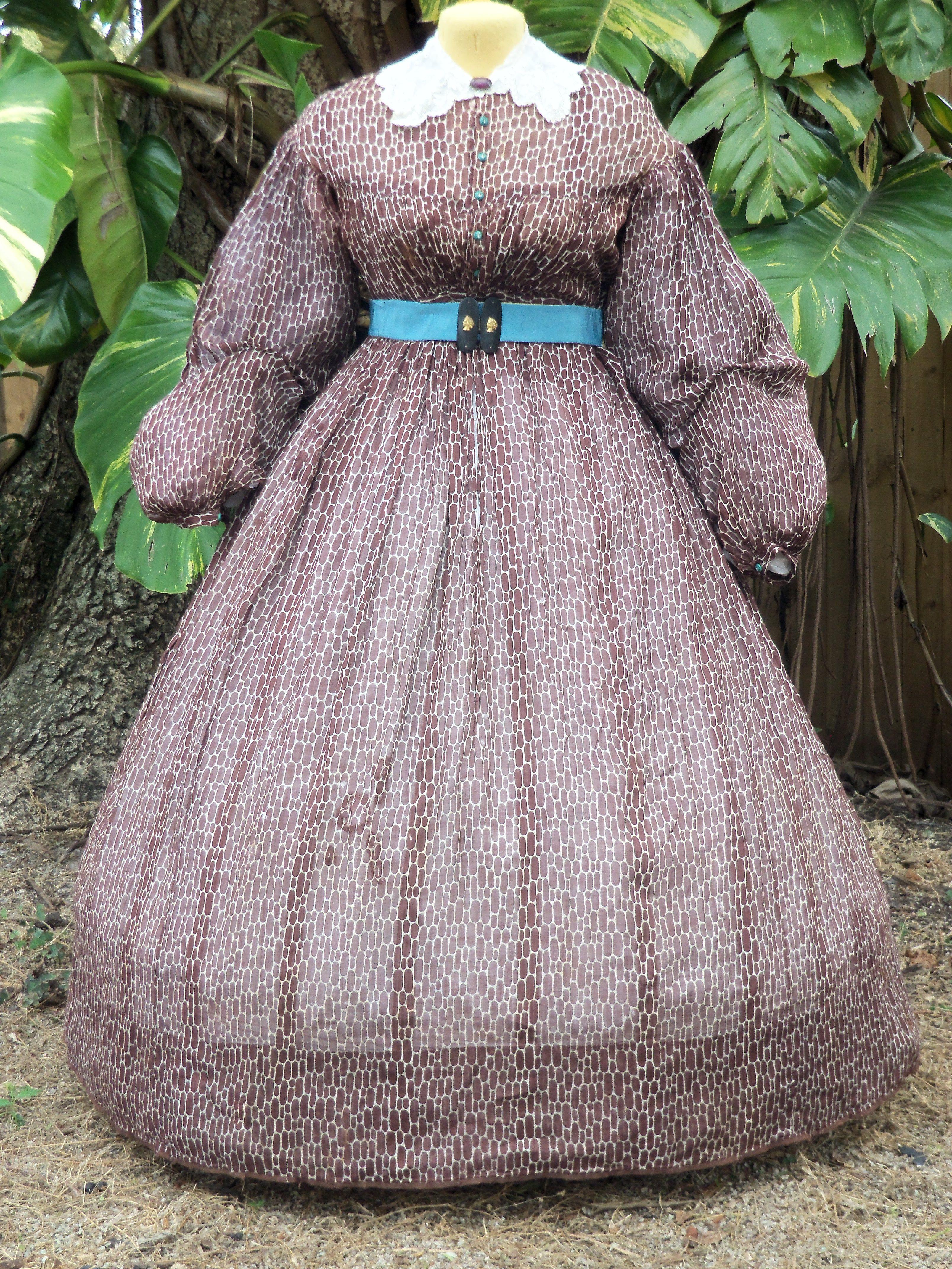 Muslin Summer Dress Updated To C 1864 5 Originally C 1860 Collection Travis Triplett Sheer Dress Mid Dresses Dresses [ 4288 x 3216 Pixel ]