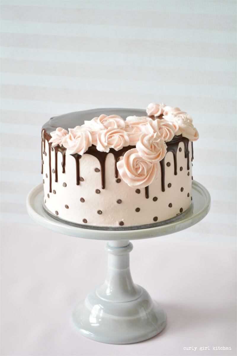 Polkadot Drip Cake - Curly Girl Kitchen