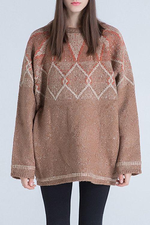 Jacquard Oversized Sweater