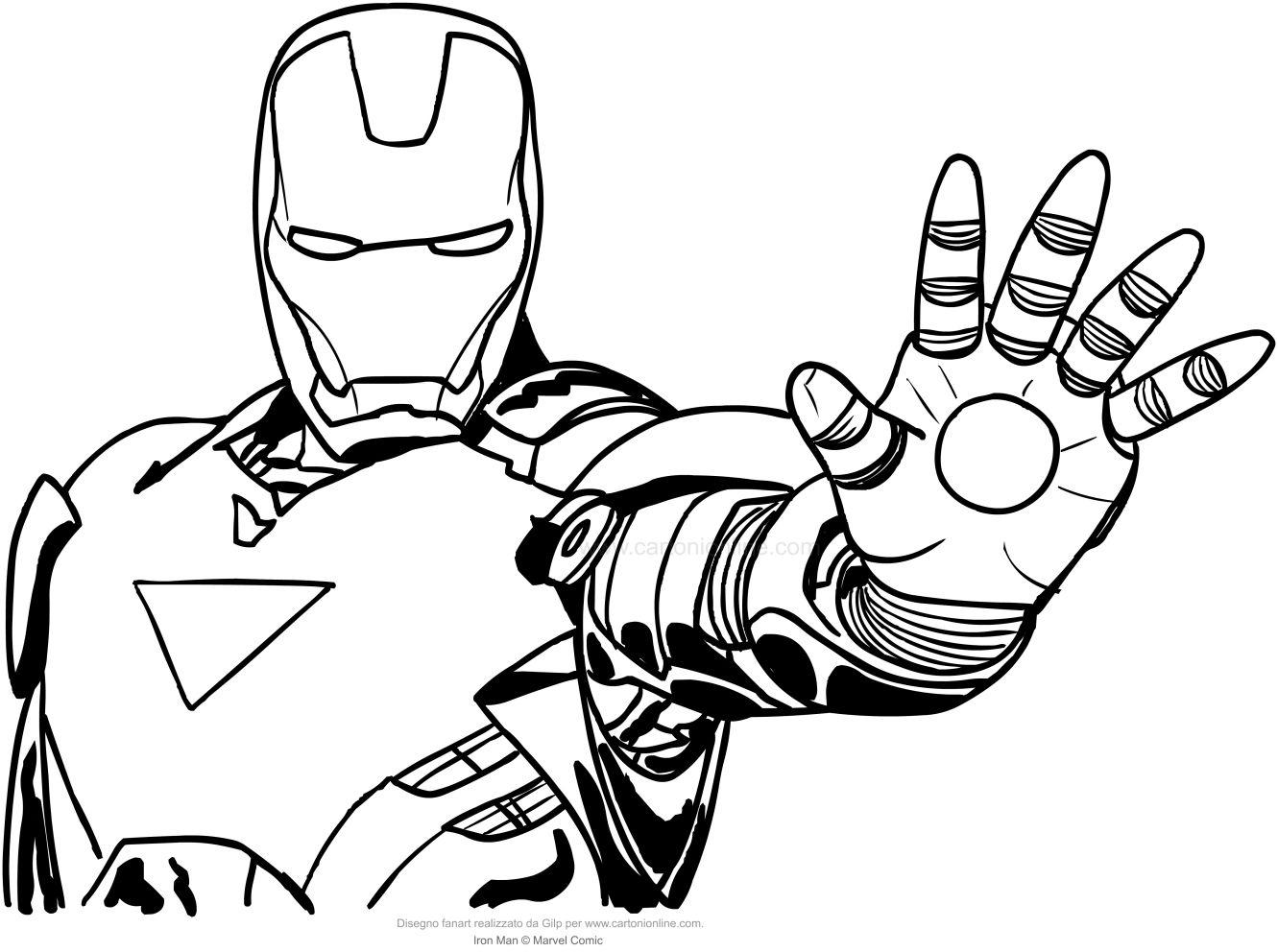 Risultati immagini per disegni da colorare iron man for Immagini spiderman da colorare