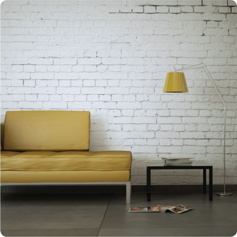 This Removable White Brick Wallpaper Design Is Light And Minimalist But Brings White Brick Wallpaper Bedroom White Brick Walls White Brick