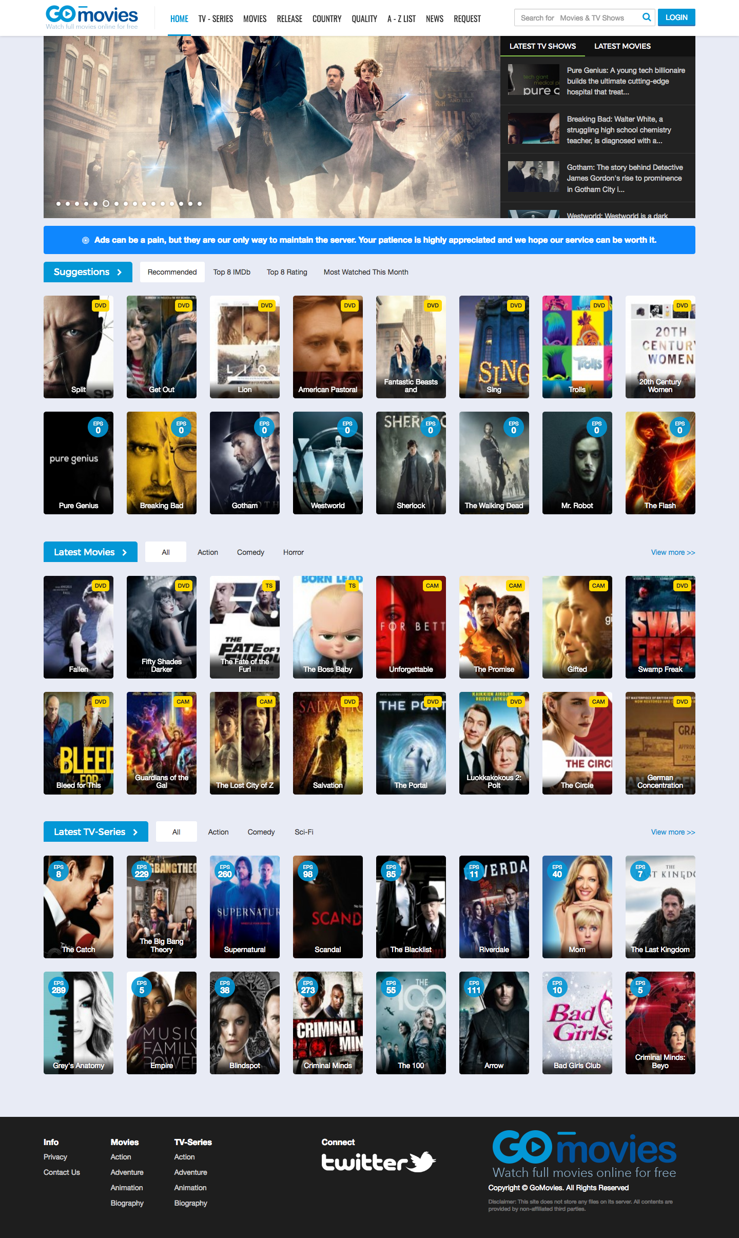 Gomovies The best movie website to watch movies online
