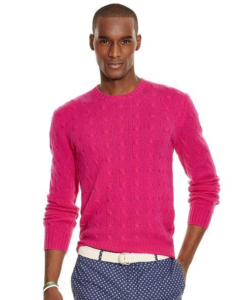 Cable-Knit Cashmere Sweater - Polo Ralph Lauren Crewneck - RalphLauren.com