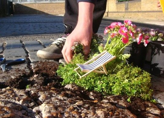 The Pothole Gardener Creates Miniature Living Worlds in East London Potholes