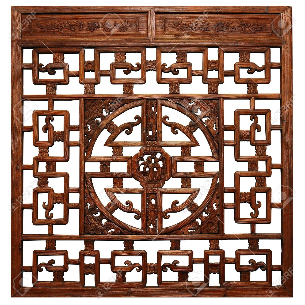 Chinese traditional wood carvings by Nonnakrit, via ShutterStock