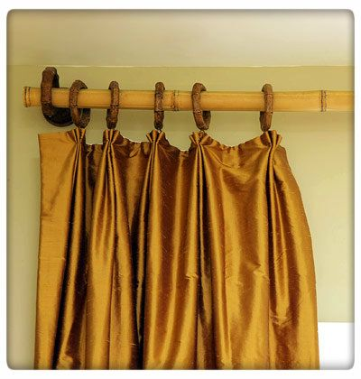 Do It Yourself Bamboo Curtain Rod. #DIY | Bamboo DIY | Pinterest ...
