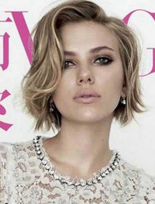 Www Eshorthairstyles Com Wp Content Uploads 2016 09 Wavy Short Hairstyles Jpg Celebrity Short Hair Thick Hair Styles Short Hair Styles