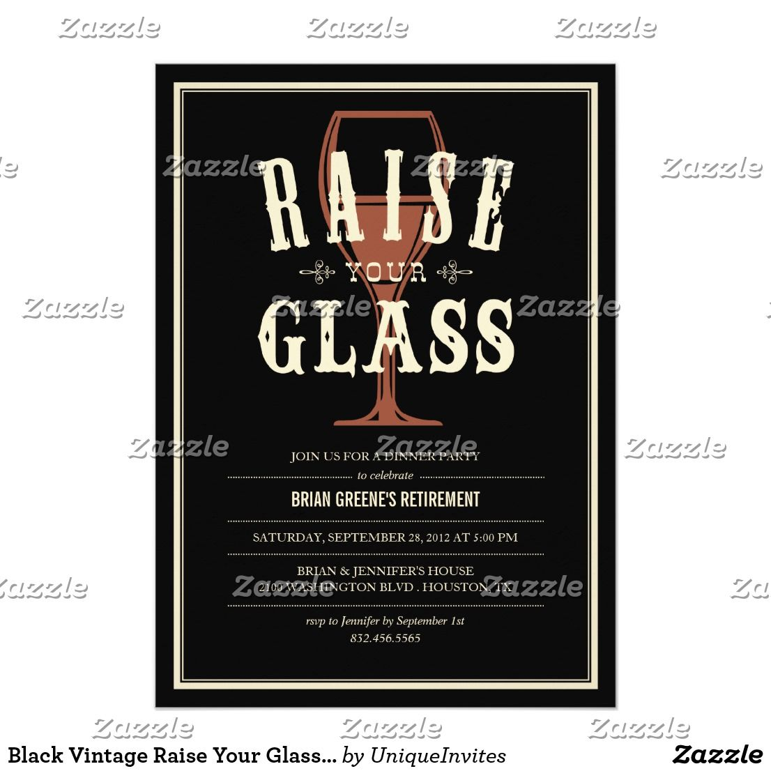 black vintage raise your glass party invitations black vintage raise your glass party invitations customize the text to fit your party needs