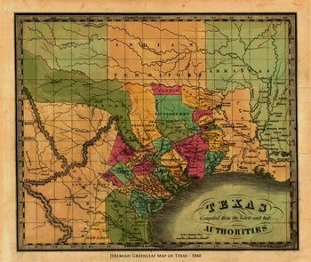 1840 map of texas