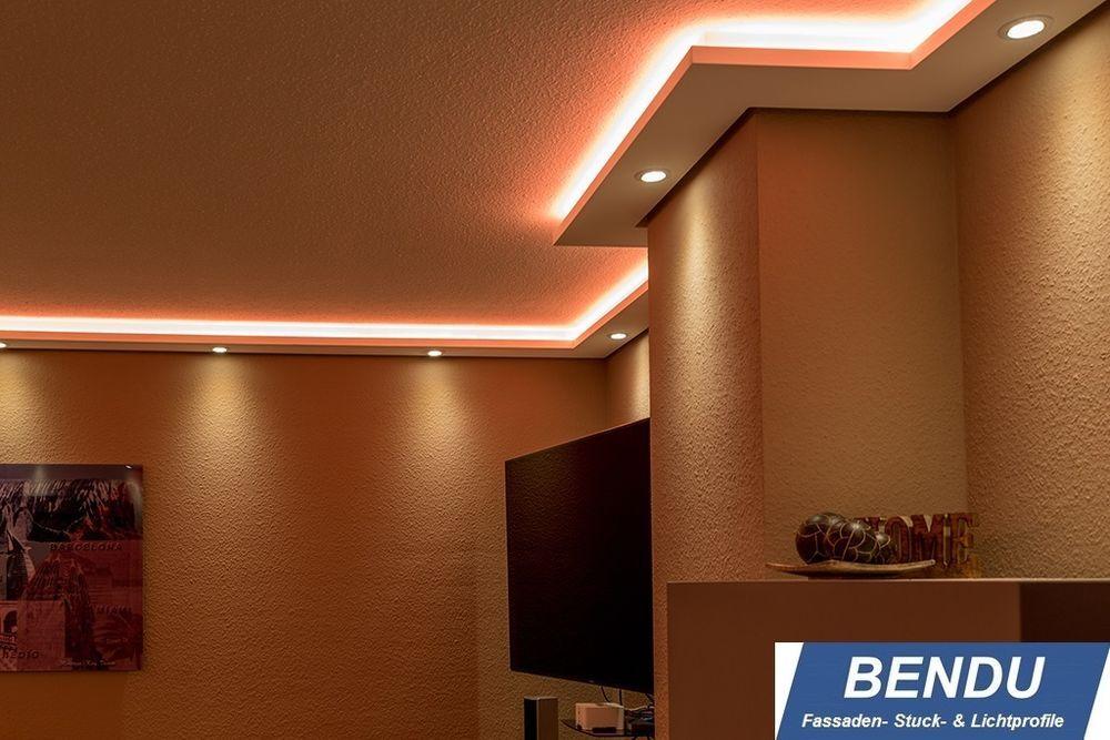 Details zu LED Stuckleisten indirekte Beleuchtung Wand Decke - led leuchten wohnzimmer