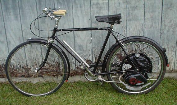 English Indian Bicycle With Cyclemaster Motor 1951 Our Family Had