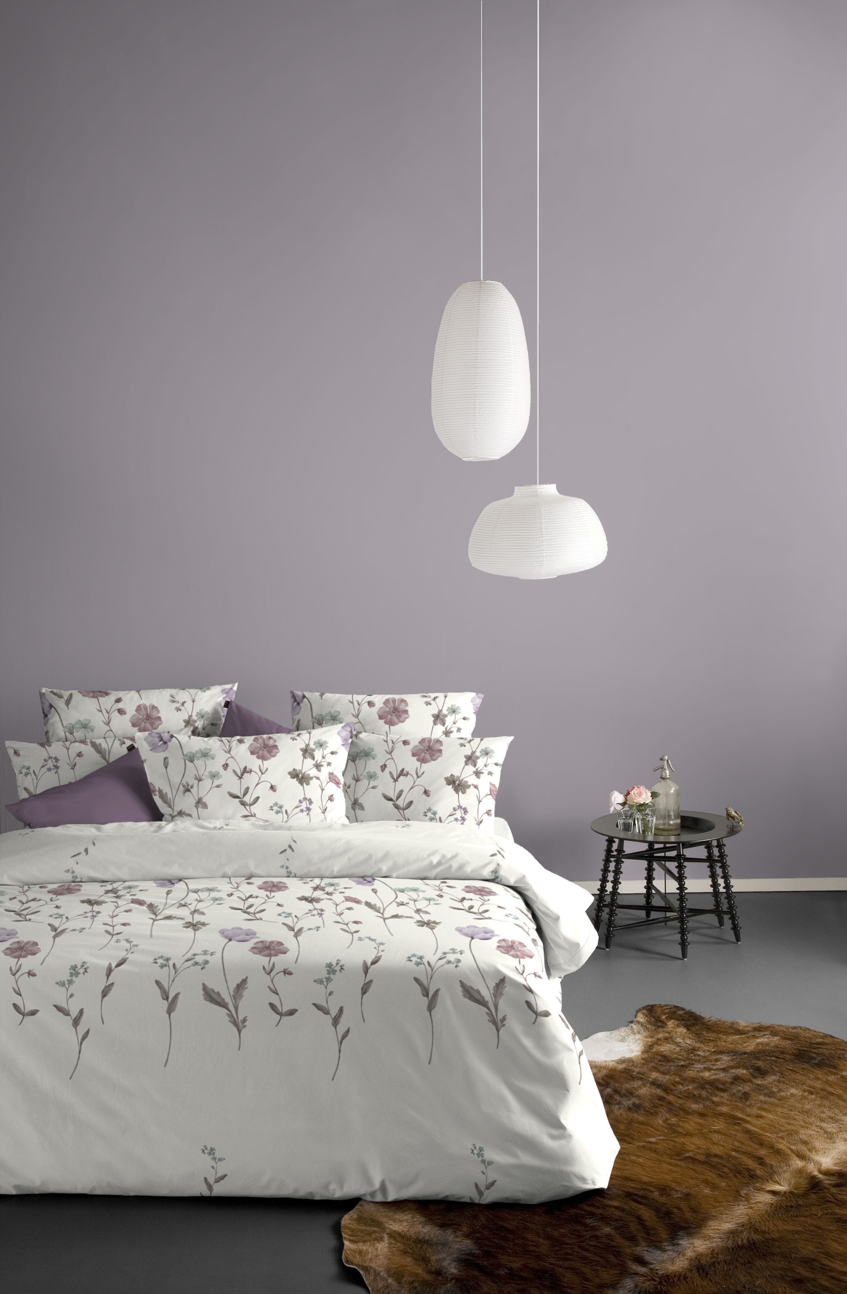 Purple Grey Paint Color With White Furniture In 2020 Bedroom Wall Colors Purple Bedroom Walls Purple Bedroom Paint
