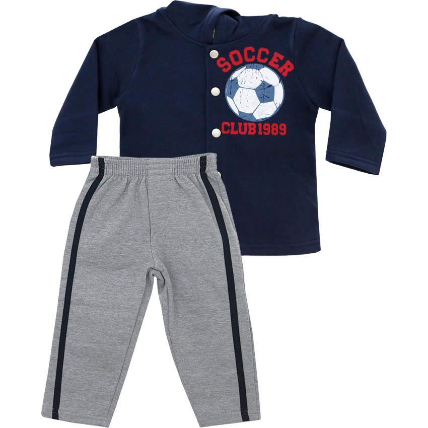 Conjunto Infantil Masculino com Casaco Marinho - Jaca-Lelé :: 764 Kids | Roupa bebê e infantil