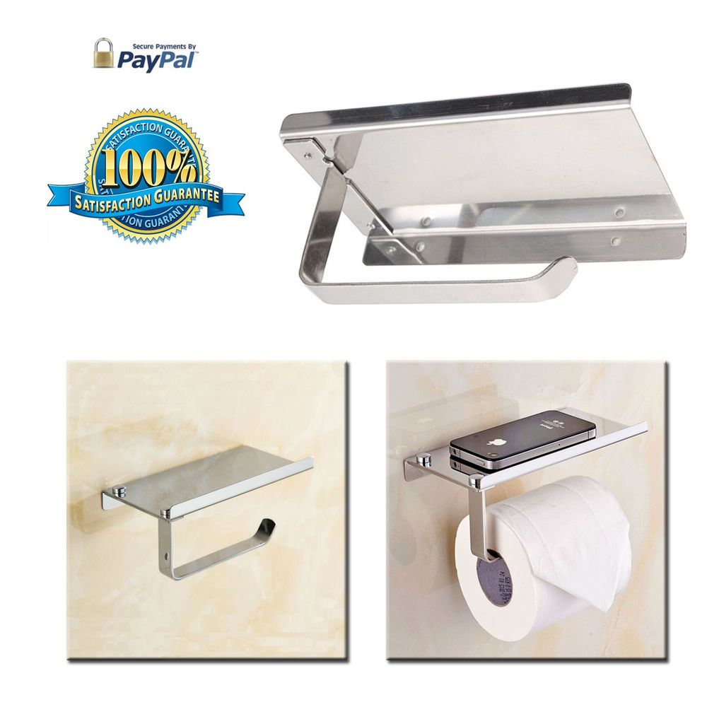 bosszi wall mount toilet paper holder sus304 stainless steel
