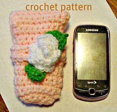 Ravelry: 595 cell phone pouch pretty in pink pattern by Sandy Powers