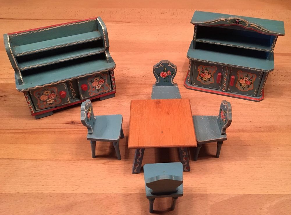Dora Kuhn Puppenstubenmöbel Esszimmer | EBay