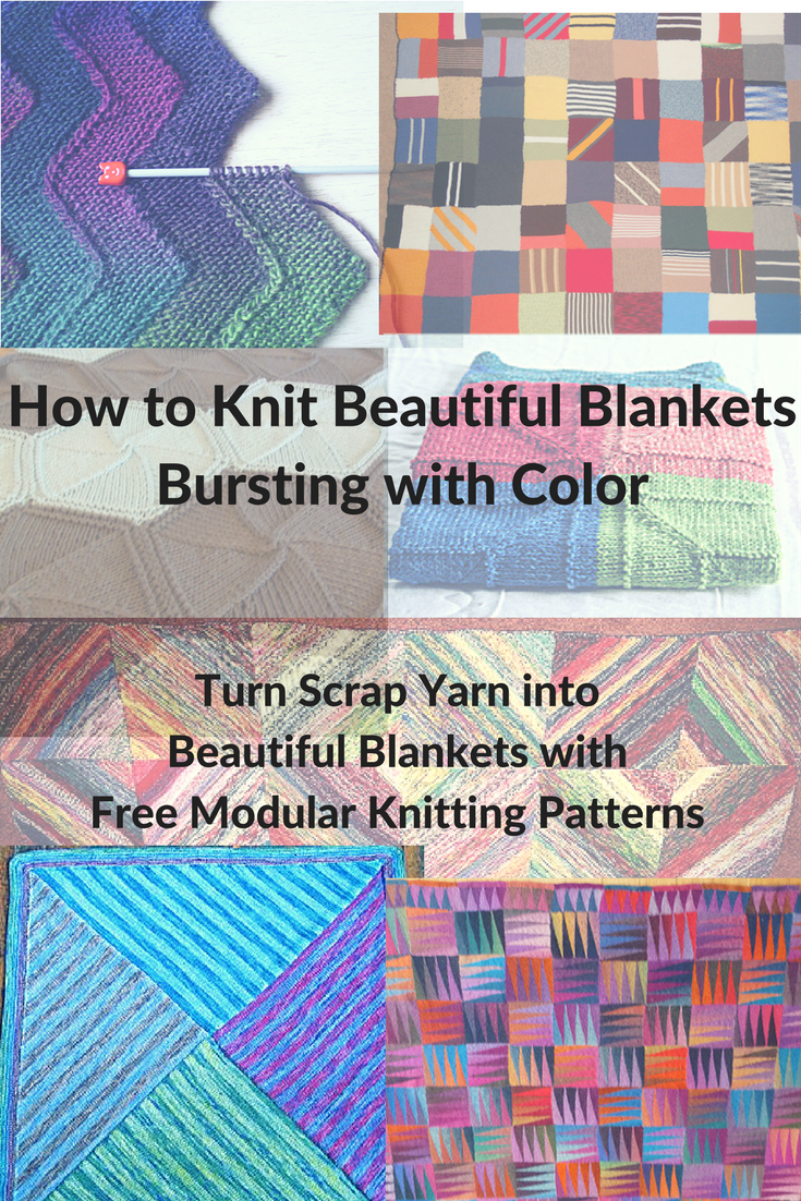 How to Make a Beautiful Blanket Bursting with Color   Knitting ...