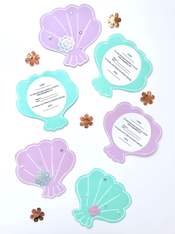 Photo of Einladungskarten für Meerjungfrauen Geburtstag + Vorlagen Freebie