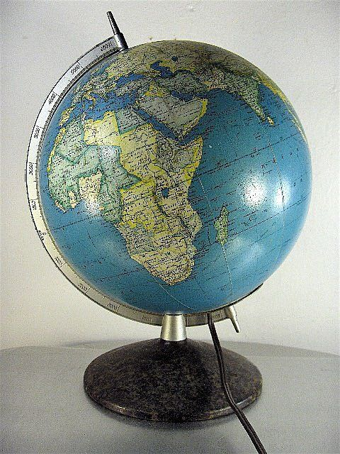 Vintage Lighted Mcnally World Globe World Globes Decorating With Maps Travel Globe