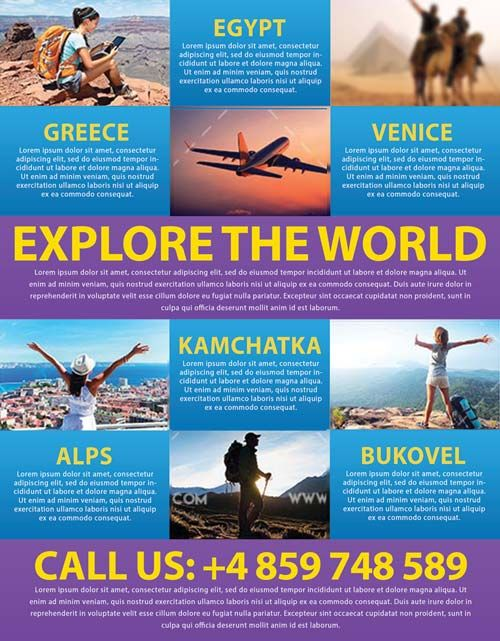Holiday Travel Business Psd Flyer Template  HttpFreepsdflyer