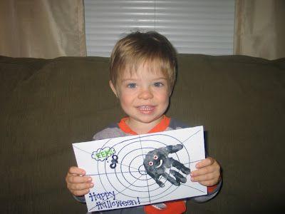 Halloween hand/footprint art.  Holiday fun for any age.