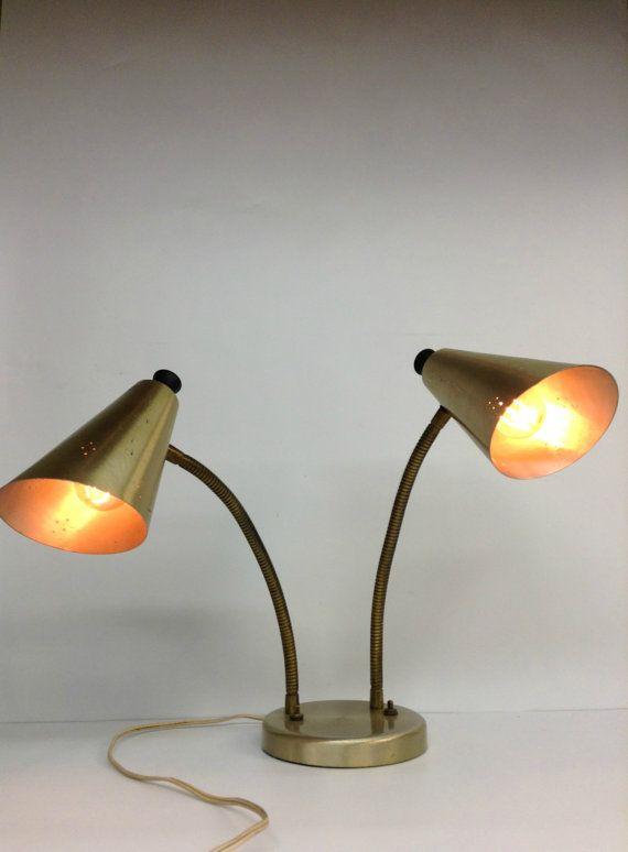 Vintage Mid Century Modern Dual Desk Lamp By Modernartifactdecor Mid Century Modern Desk Lamp Modern Desk Lamp Mid Century Modern Decor