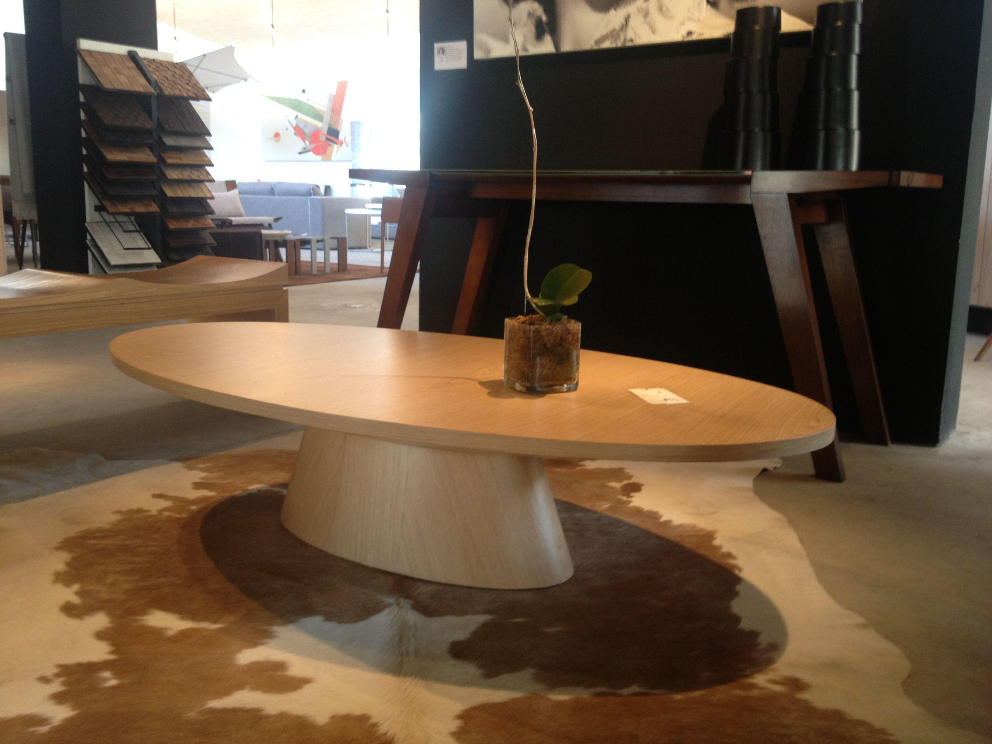 Mesa centro ovalada eclipse madera mesas de centro - Mesa de centro ovalada ...