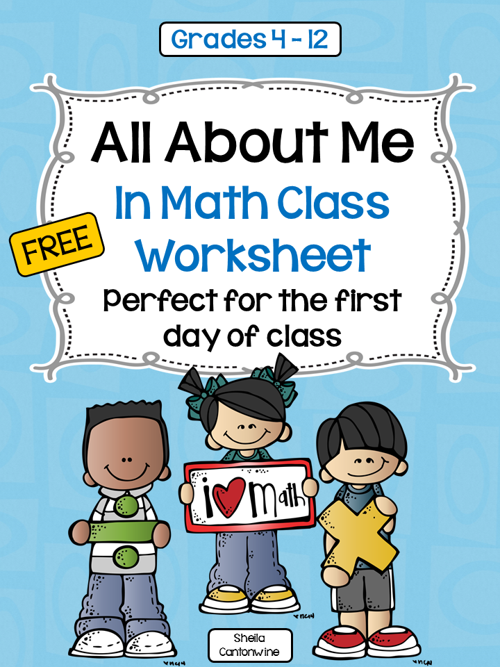This FREE worksheet is perfect for getting to know your math ...
