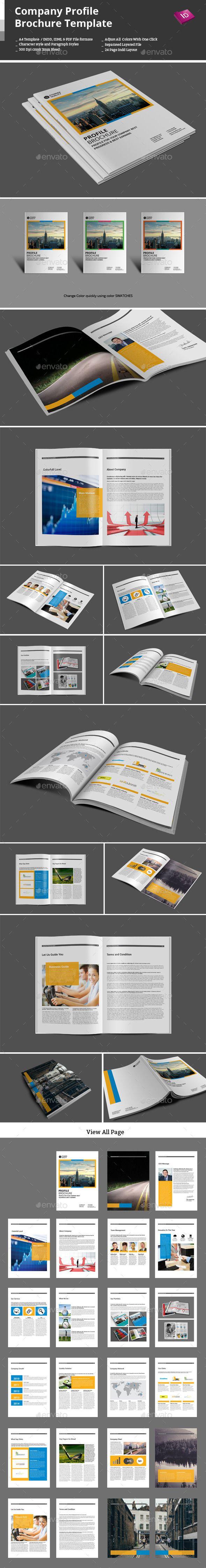 Company Profile Brochure Template | Folleto corporativo, Folletos y ...