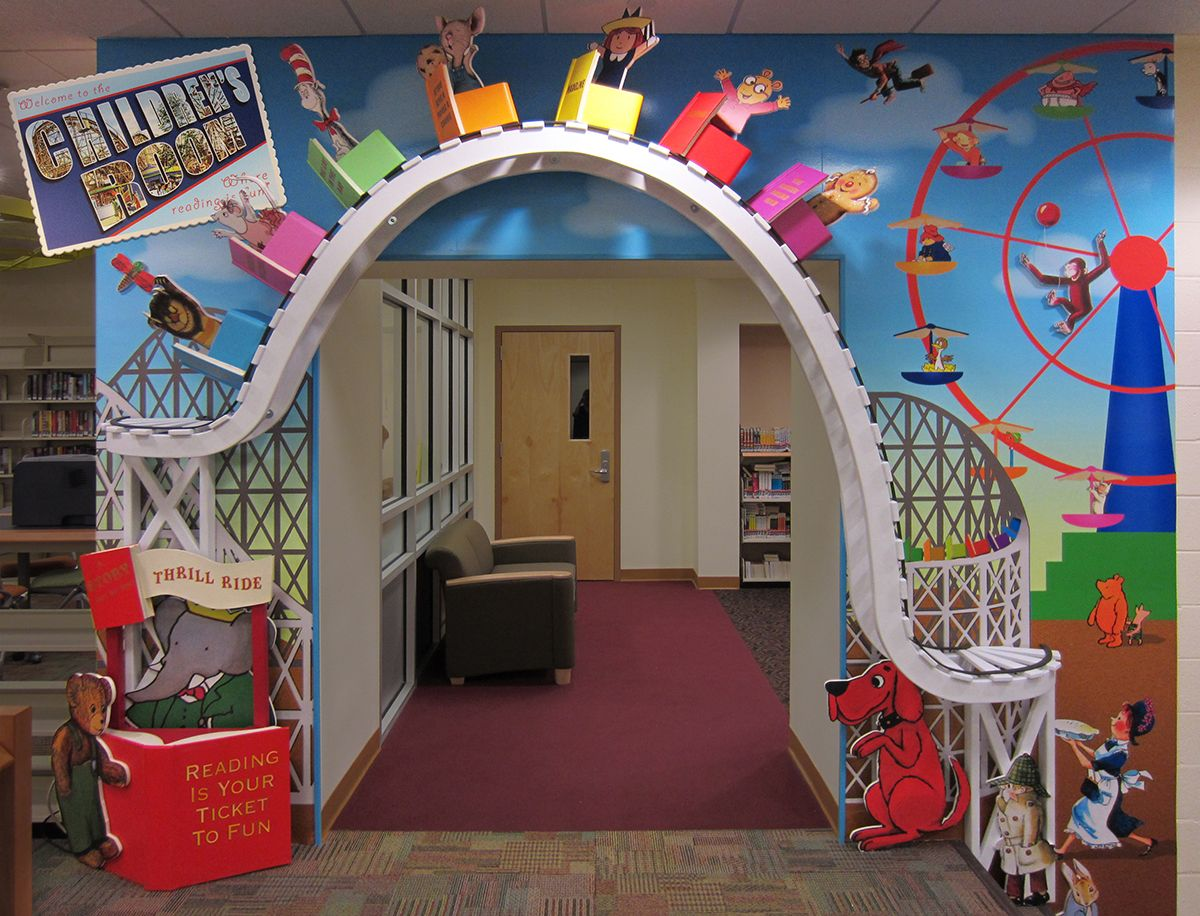 Entrance To The Children S Room Of The Cliffside Park Library On