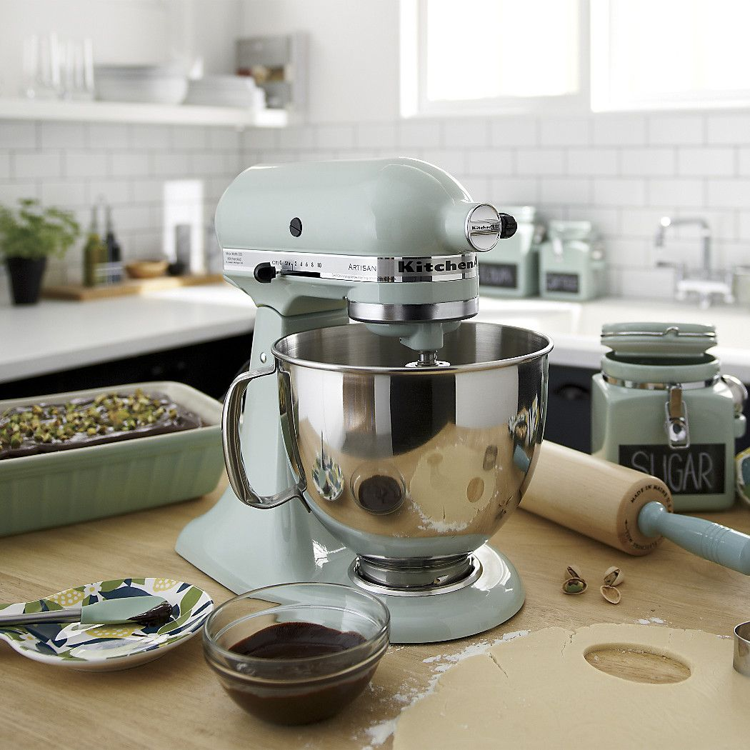 Shop KitchenAid KSM150PSPT Artisan Pistachio Stand Mixe. Receive A Free  Food Grinder Attachment When You Purchase A KitchenAid Artisan Or Mini Mixer  With ...