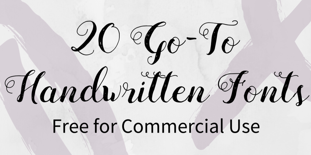 20 GoTo Handwritten Fonts Free For Commercial Use (With