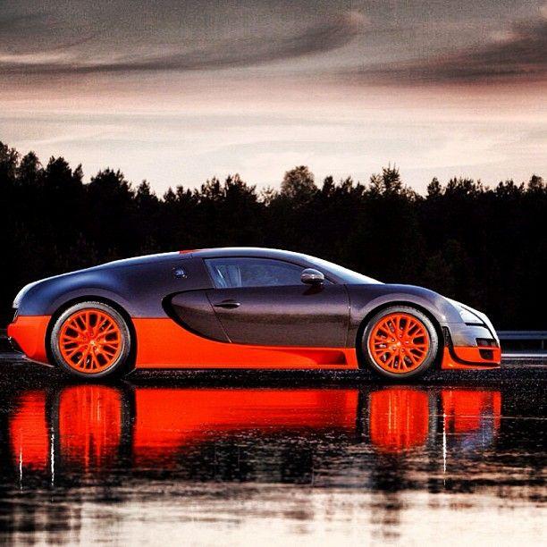 Slick Bugatti Veyron Riding On Water