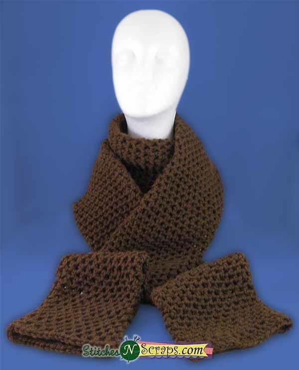 Mesh Crochet Tube Scarf