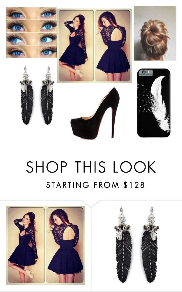 """""""Quotev"""" by morgan-elizabeth-lafever ❤ liked on Polyvore featuring Christian Louboutin, Rebecca Minkoff, women's clothing, women, female, woman, misses and juniors"""
