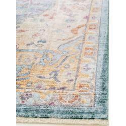 Photo of benuta Naturals viscose carpet Yuma Multicolor / Blue 240×320 cm – Vintage carpet in used look benuta.